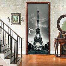 no-brand 3D Türtapete-Eiffelturm-3D Fototapete