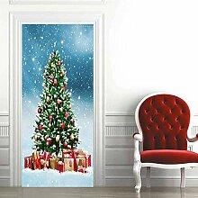no-brand 3D Türtapete-Weihnachtsbaum-3D