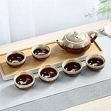 No-branded Teekanne Kiln Kung Fu Tea Set Kung Fu