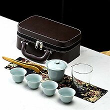 No-branded Teekanne Steingut Travel Tee-Set