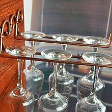 NO LOGO XW-JIUJIA, 2 Reihen Weinglas Rack Tumbler