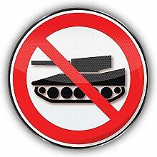No War Prohibition Sign - Self-Adhesive Sticker