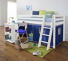 Noa and Nani Hochbett mit Schreibtisch in blau,