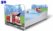 Nobiko Babybett Kinderbett Bett Schlafzimmer Kindermöbel Spielbett Butterfly 160x80 or 140x70 Matratze Lattenrost (160x80, 50)