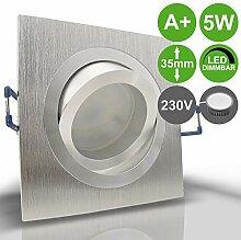 NOBLE 1 Alu Silber 1er Set 230V LED 5W dimmbar
