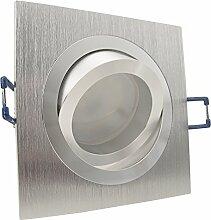 NOBLE 1 Alu Silber 5er Set 230V LED 5W dimmbar