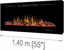 """Noble Flame Paris Schwarz 1400 (140 cm / 55"""") -"""