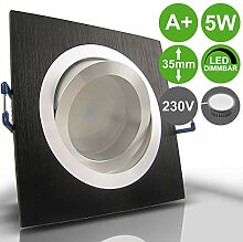 NOBLE S1 Schwarz 3er Set 230V LED 5W dimmbar