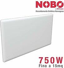 NOBO Elektro-Heizstrahler 750 W, ideal bis zu 15