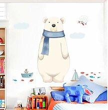 nobrand Cartoon Eisbär Wandaufkleber Kinder