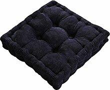 nobrand Dicker Mais Samt Kissen Büro Sessel Kissen Sofa Matte 12 Farben 3 Größen (50x50cm, Dunkelblau)