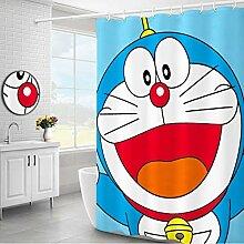nobrand Duschvorhang Cartoon Doraemon Bad