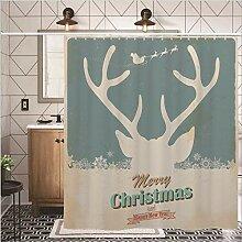 nobrand Duschvorhang Weihnachten Digitaldruck