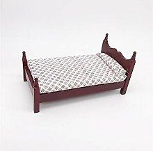 nobrand Mini-Taschenmöbel Mahagoni Kleines Bett