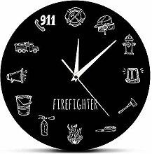Nobranded Wanduhr 12-Zoll-Feuerwehr-Werkzeuge