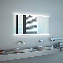 Noemi 2018 Design - LED BADSPIEGEL mit Beleuchtung - Made in Germany - (Breite) 150 cm x (Höhe) 60 cm