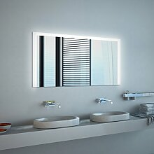 Noemi Design - LED BADSPIEGEL mit Beleuchtung - Made in Germany - (Breite) 150 cm x (Höhe) 60 cm