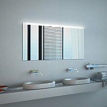 Noemi Design - LED BADSPIEGEL mit Beleuchtung - Made in Germany - (Breite) 90 cm x (Höhe) 70 cm