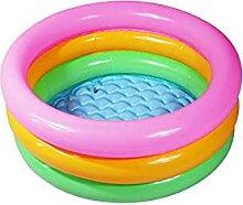 NOERTYB Planschbecken Aufblasbare Schwimmbadkreise