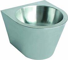 Nofer 13036.C.S Handwaschbecken, konisch/geschlossen, Edelstahl 360 x 360 x 300 mm, satinier