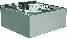 Nofer 13081.2.S Handwaschbecken aus Edelstahl, 1200 x 550 mm mit zwei Etagen übereinander/Dashboard Front Panel