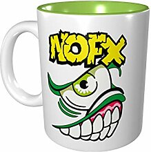 NoFX Farbige Tasse aus Porzellan, 330 ml, Keramik,