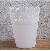 NOHOPE Bambus Rattan Multi-Color Kunststoff Vase Vase Dekoration Ornament,A/14*11cm