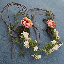 NOHOPE Die Braut, Brautjungfer Heirat Kopfschmuck Emulation Blumengirlanden Hand gewebt rattan Hochzeit Zubehör Haar Zubehör Foto Ornamente