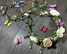NOHOPE Die Braut Girlanden Schmuck Haarschmuck Brautjungfer Haarbanden Blume Ehe Zubehör Emulation Blumengirlanden