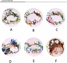 NOHOPE Die Braut Kopf OrnamenteEmulation Blumengirlanden Ehe Haar Dekorationen Hochzeit Zubehör