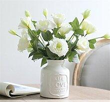 NOHOPE Emulation Blume Keramik Vasen Anzug Desktop Dekoration mit floralen Tabelle Emulation Blume Muttertagsgeschenk