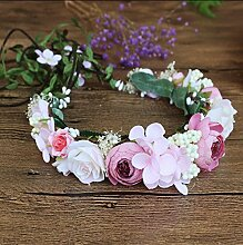 NOHOPE Foto Gebäude Braut Emulation Blume Haar Dekorationen Ehe Ornamente Haarbanden mit Girlanden