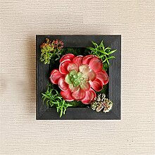 NOHOPE Kreative Home Dekoration Pflanze Stereo Emulation Sukkulenten Wand Dekoration Pflanzen Wohnzimmer an der Wand hängende Wand Dekoration Muttertagsgeschenk