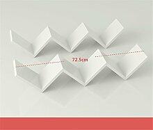 NOHOPE Kreative moderne, minimalistische W-förmige Wandregal Blume Regal einfach Wandregal Wohnzimmer Wandhalterung