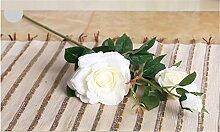 NOHOPE Kunststoff Blumen Rosen getrocknete Blumen Dekoration Wohnzimmer Schlafzimmer Künstliche Blumen Emulation Rosen Single Rose Muttertagsgeschenk