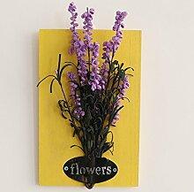 NOHOPE Pastoralen Stil Wanddekorationen Emulation Pflanzen kreative Pflanzen Ornamente Home Decor hängende Wand Dekoration Muttertagsgeschenk