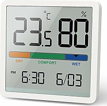 NOKLEAD Digitales Thermo-Hygrometer, Tragbares