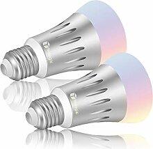 Nologie Smart LED WLAN Lampen, Mehrfarbige LED
