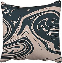 nomonoq Kissenbezug 45X45cm Polyester Cool Marmor