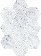 non-brand MagiDeal 10pcs Selbstklebende Hexagon