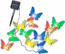 non-brand MagiDeal 12er LED Solar Schmetterling