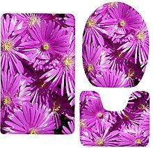 non-brand MagiDeal 3 Stück Blume Serie Badematte