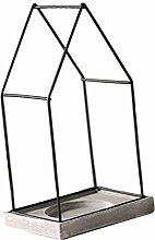 non-brand MagiDeal Draht Kerzenhalter Kerze Kerzenständer Teelichthalter Hochzeit Tisch Dekoration - L