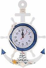 non-brand MagiDeal Nautische Maritim Quarz Wanduhr