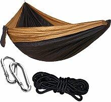 non-brand MagiDeal Tragbare Hängematte aus Leichtem und hochfestem Fallschirmgewebe, Ideal für Camping, Wandern, Reise, Strand, Yard usw, 275x140cm - 4#