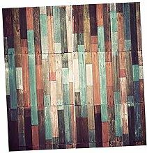 non-brand Sharplace 2pcs Holzoptik Vorhang