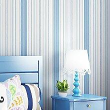Non-Woven blaue vertikalen Streifen Tapete Schlafzimmer Wohnzimmer Kinderzimmer Zimmer Tapete , 3031