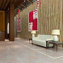 Non woven Tapeten, modernen, minimalistischen Holz, Rinde, Wohnzimmer, retro Tapete, Schlafzimmer, Büro Tapeten, C
