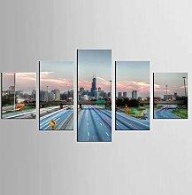None brand 5 Panel Expressway Leinwanddruck