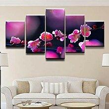 None brand Leinwand Modulares Bild 5 Panel Blossom